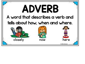 adverb picture cards adverbs  manner activities