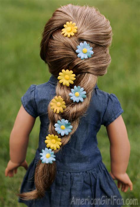 doll hairstyle floral braid  spring americangirlfan