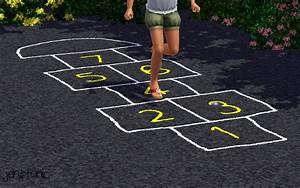 Mod The Sims - Chalk Hopscotch Court +DEFAULT