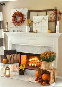Country Fall Mantel Decorating Ideas