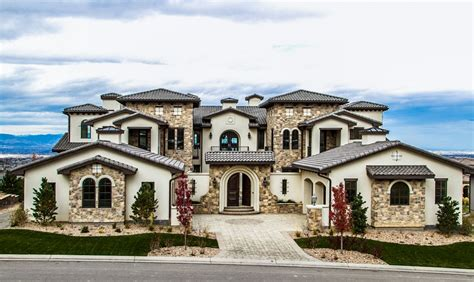 square foot stone stucco mansion  highlands ranch  homes   rich