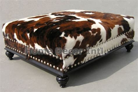 International Cowhide - 20 best cowhide ottomans images on cowhide