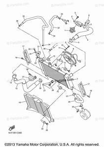 Yamaha Motorcycle 2005 Oem Parts Diagram For Radiator Hose