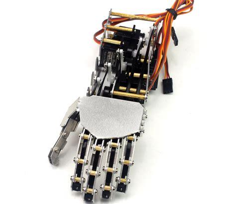 dof robot humanoid  fingers metal manipulator hand