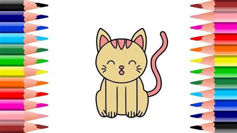 mewarnai kucing kumpulan gambar bagus