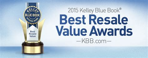 2015 Best Resale Value Awards  Kelley Blue Book