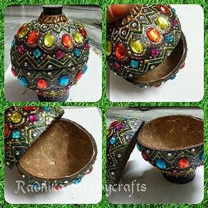 Coconut Shell Jewellery Box Best Out Of Waste - Wiki-How
