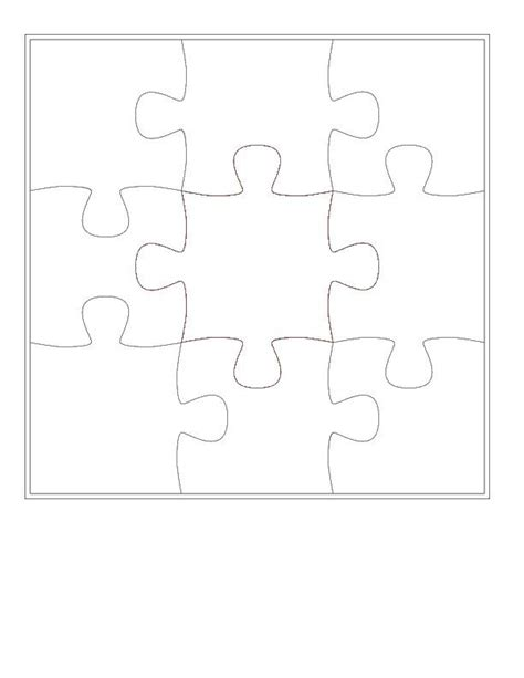4 puzzle template pin printable blank puzzle pieces pictures on
