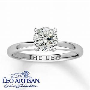 jared leo artisan diamond 1 carat round cut 18k white With leo diamond wedding rings
