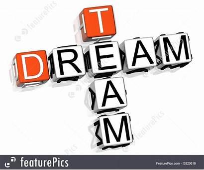 Team Dream 3d Clip Crossword Background Illustration