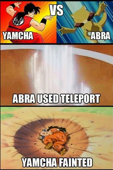Yamcha Memes - dbz vs pokemon bahahahahahaha it s so true d manga anime pinterest shirts d and 3d