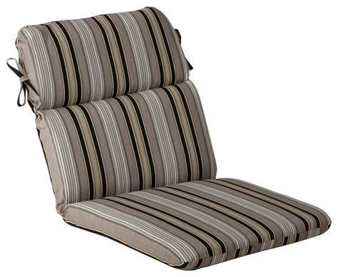 getaway stripe black rounded corners chair cushion