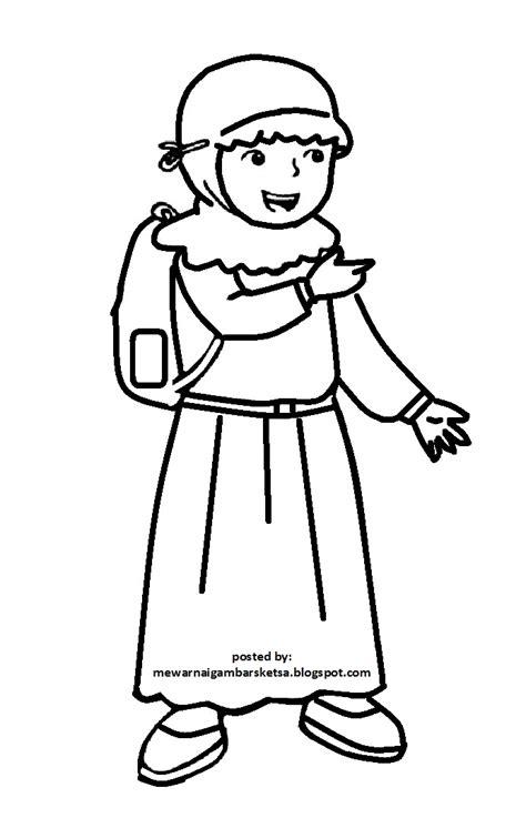 Mimosapudica34 nv3 muslimah hijab manga mangahijab mangamus. Mewarnai Gambar: Mewarnai Gambar Sketsa Kartun Anak Muslimah 63