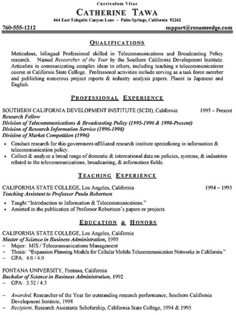 Professional Curriculum Vitae Format by How To Write A Curriculum Vitae Cv Format Sles Career