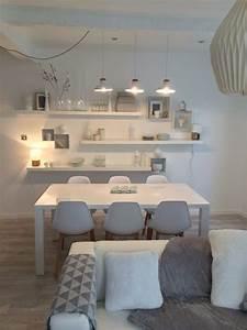 Aménager Salon Salle À Manger 20m2 : salle manger murs blanc mais ambiance feutr e et douce ~ Melissatoandfro.com Idées de Décoration