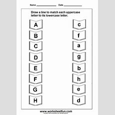 Uppercase Lowercase Letter  Education  Letter Worksheets, Matching Worksheets, Uppercase