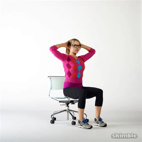 seated cross crunches exercise how to workout trainer by skimble