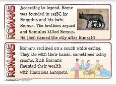 Romans Fact Cards Teaching Ideas