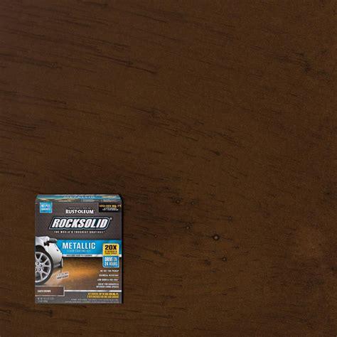 garage floor paint brown rust oleum rocksolid 70 oz metallic earth brown garage floor kit 286895 the home depot