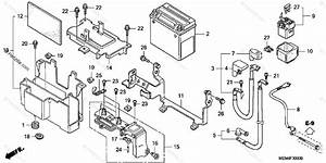 Honda Motorcycle 2005 Oem Parts Diagram For Battery