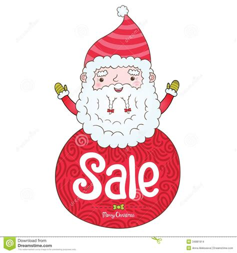 santa claus and christmas sale badge stock images image