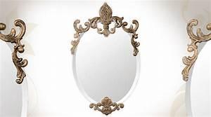 Miroir Style Baroque : miroir baroque dor avec tag re en sellette murale 68 cm ~ Teatrodelosmanantiales.com Idées de Décoration