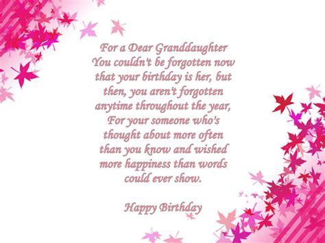 granddaughter birthday verses card verses   wishes