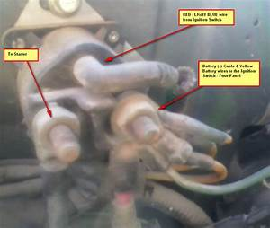89 F250 4x4 Auto 460 Starter Wiring  Chilton Shows Red  Lt Blu From Ign Sw To P  N Sw  My Truck