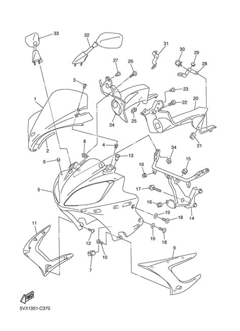 2008 Yamaha R6 Wiring Diagram Part by Cowling 1 For Yamaha Fz6 2006 Year Megazip Store