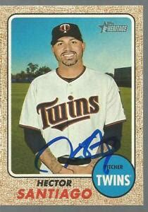 MINNESOTA TWINS HECTOR SANTIAGO SIGNED 2017 TOPPS HERITAGE ...