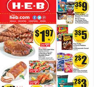 HEB Grocery Store Price List