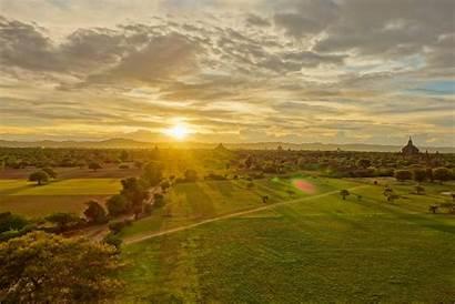Myanmar Bagan Sunset Places
