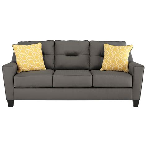 Contemporary Sofa In Performance Fabric By Benchcraft