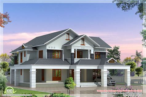 colonial floor plans luxury 5 bedroom villa kerala home design and floor plans