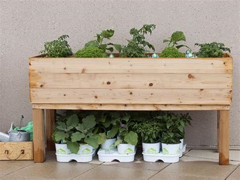 build  elevated wooden planter box diy