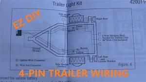 4 Pin Trailer Wiring Install Diy  Plus Wiring Diagrams