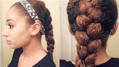 Braided And Curled Hairstyles by How To Do Braid On Curly Hair Step By Step Tutorial