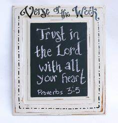 Shabby chic verse of the week chalkboard scripture for What kind of paint to use on kitchen cabinets for christian wall art with scripture