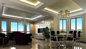 Neo-classical interior design living and dining