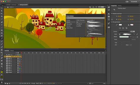 See web technology for developers. Find Out How to Use the Vector Brushes in Adobe Animate CC