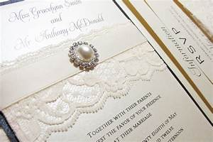 traditional elegant wedding invitations with lace pearls With elegant wedding invitations with rhinestones and lace