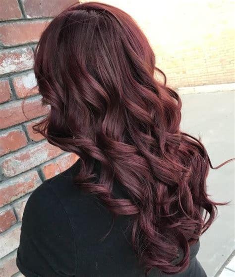 elegant burgundy hair ideas  straight waves curls