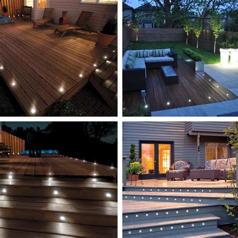 5pcs led garden deck lights low voltage waterproof in