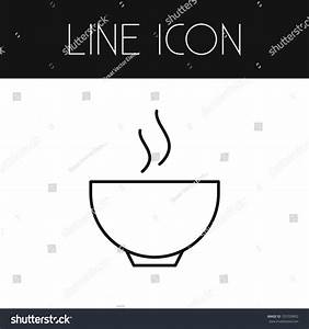 Isolated Bowl Outline Soup Vector Element Stock Vector ...