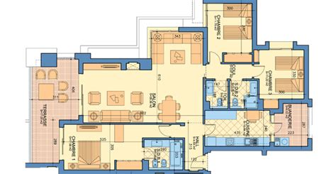 appartement 3 chambres plan appartement type a 3 chambres prestigia luxury