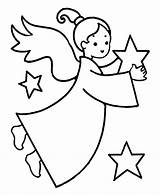 Angel Coloring Printable Holding sketch template