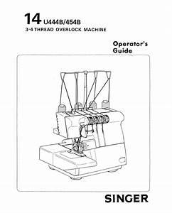 Singer 14u454b Ultralock User Manual
