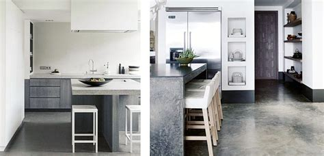 cemento pulido en el diseno de la cocina