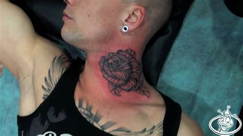 dukecom tattoo  neck rose youtube