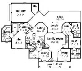 single story house floor plans whispering manor one story home plan 020s 0015 house